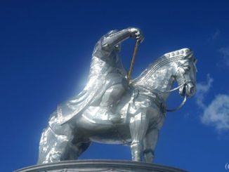 モンゴル チンギス・ハーン騎馬像,Mongolia,Chinggis Khan Statue