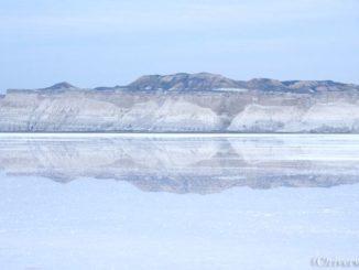 カザフスタン トゥズバイル塩湖 Kazakhstan Tuzbair Salt Lake