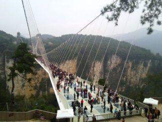 張家界 ガラスの吊り橋 玻璃橋 Zhangjiajie Glass Bridge