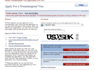 USAビザ オンライン申請 VISA Online Application