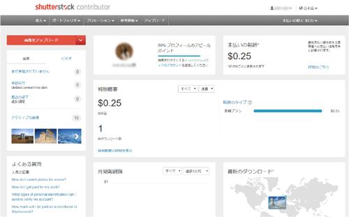 shutterstock contributor 登録