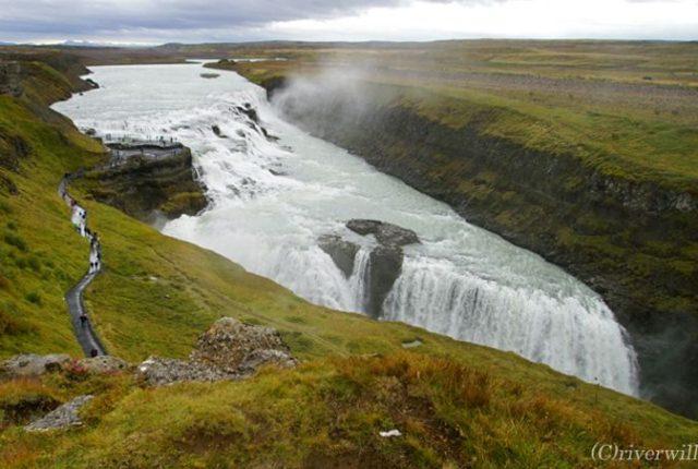 アイスランド ゴールデンサークル グトルフォス Iceland Golden Cercle Gutorfoss