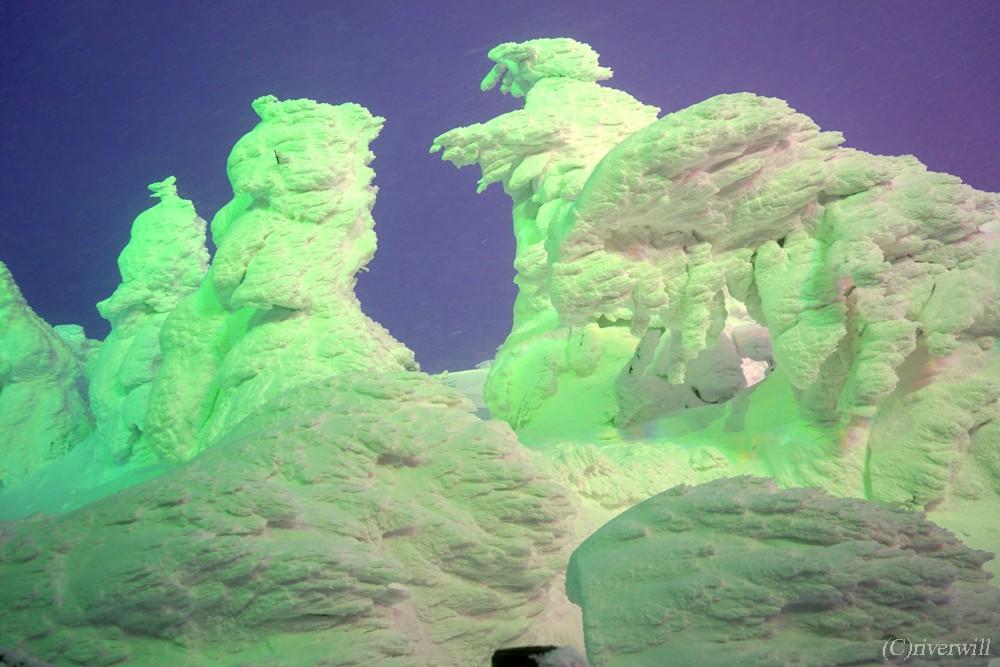 山形 蔵王温泉 樹氷 Yamagata Zao Onsen Hot springs Juhyo Snow Monsters